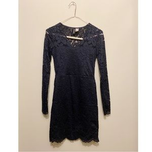 Divided Navy Lace Dress